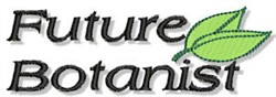 Future Botanist embroidery design