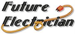 Future Electrician embroidery design