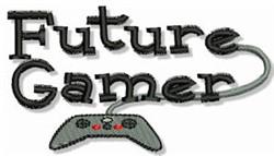 Future Gamer embroidery design