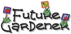 Future Gardener embroidery design