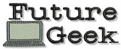 Future Geek embroidery design