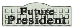 Future President embroidery design