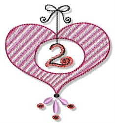Valentines Day Ornament embroidery design