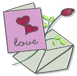 Valentines Day Card embroidery design