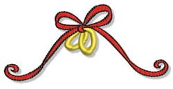 Valentines Day Ribbon embroidery design