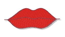 Valentine Lips embroidery design