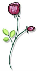 Valentines Day Rose embroidery design