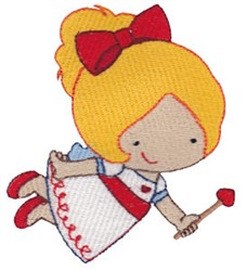 Valentine Fairy embroidery design
