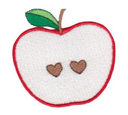 Valentines Day Apple embroidery design