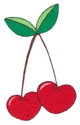 Valentines Day Cherries embroidery design