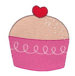 Valentines Day Cupcake embroidery design