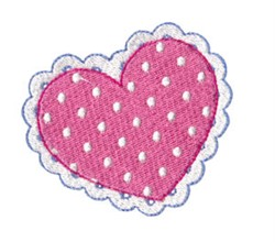 Valentines Lace Heart embroidery design