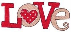 Valentines Day Love embroidery design