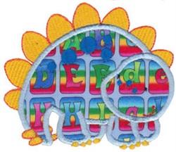 Stegosaurus Applique embroidery design