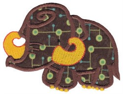 Wolly Mammoth Applique embroidery design