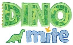 Dinomite Applique embroidery design