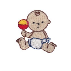 Mini Baby & Rattle embroidery design