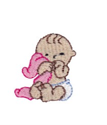 Mini Baby & Blanket embroidery design