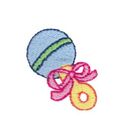 Mini Baby Rattle embroidery design