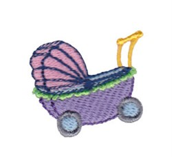 Mini Baby Stroller embroidery design