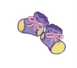 Mini Baby Booties embroidery design