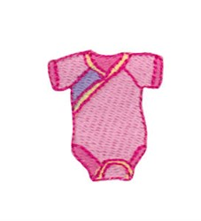 Mini Pink Baby Outfit embroidery design
