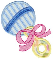 Baby Rattle Applique embroidery design