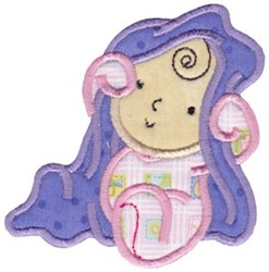 Baby & Blanket Applique embroidery design