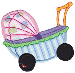 Baby Stroller Applique embroidery design