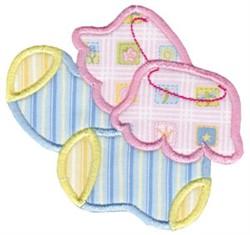 Baby Bootie Applique embroidery design