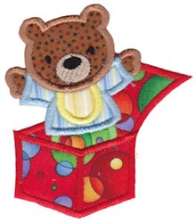 Baby Jack-In-The-Box Applique embroidery design