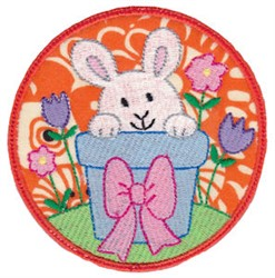 Easter Bunny Planter embroidery design