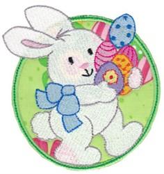 Happy Easter Bunny Applique embroidery design