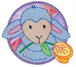Lamb & Tulip Applique embroidery design