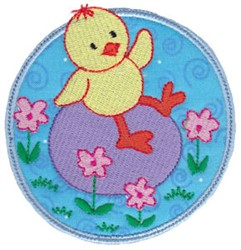 Chick & Egg Applique embroidery design