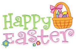 Happy Easter Basket embroidery design
