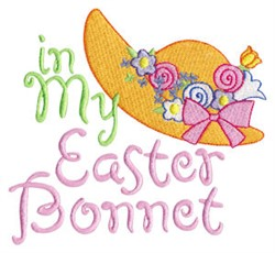 In My Easter Bonnet embroidery design