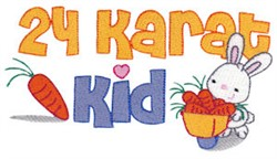24 Karat Kid embroidery design