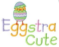 Eggstra Cute embroidery design