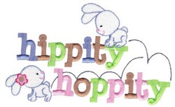 Hippity Hoppity embroidery design