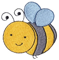 Spring Bumblebee embroidery design