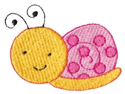 Spring Snail embroidery design