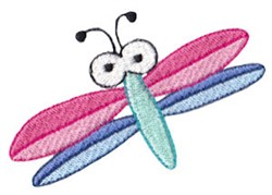 Spring Dragonfly embroidery design