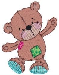 Dancing Raggedy Teddy Bear embroidery design