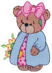 Raggedy Girl Teddy Bear embroidery design