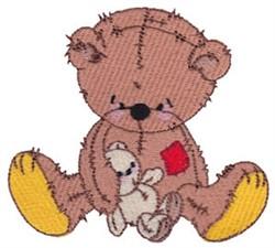 Raggedy Bear & Bunny embroidery design