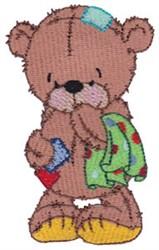 Raggedy Teddy Bear embroidery design