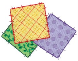 Raggedy Patchwork Squares embroidery design