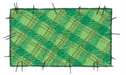 Raggedy Patchwork Rectangle embroidery design