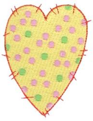 Polka Dot Heart embroidery design